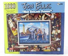 New England Fishing 1000 Piece Jigsaw Puzzle Jon Ellis NEW lure fly pole ocean