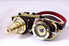 Steampunk goggles Iris aperture and telescope Brass Cosplay Black