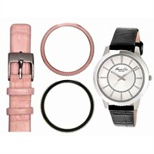 NIB KENNETH COLE New York Interchangeable Strap & Bezel Ladies Watch etm