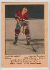 Doug Harvey 1951-52 Parkhurst Montreal Canadiens REPRINT ROOKIE Hockey Card #10