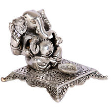 NEW GANESHA GANPATI LORD GANESH OM HINDU GOD ANTIQUE IDOL STATUE DIYA UK