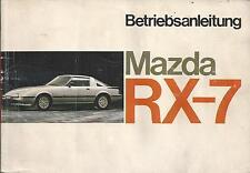 MAZDA RX - 7 Betriebsanleitung 1979 Bedienungsanleitung Handbuch Bordbuch SA2 BA