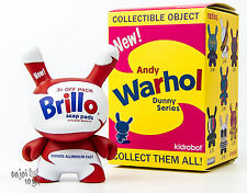 White Brillo - Kidrobot Andy Warhol Dunny Series Vinyl Figure Brand New