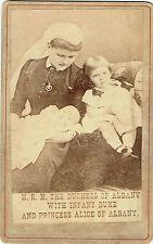 Photo cdv : Princesse Alice d'Albanie , La Duchesse et le petit Duc , vers 1865