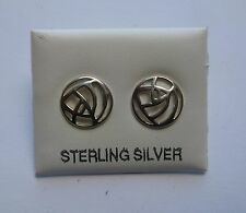 Argent Sterling Rond Charles Rennie Mackintosh boucles d'oreille style clou