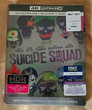 New Suicide Squad 4K Ultra HD / Blu-ray Steelbook Bestbuy USA Edition 2 Disc Set