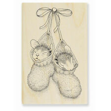 HOUSE MOUSE RUBBER STAMPS BOOTIE BABIES STAMP