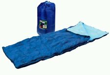 SINGLE SLEEPING BAG CAMPING CARAVAN WINTER WARM ADULT SIZE CARRY BAG FREE P&P