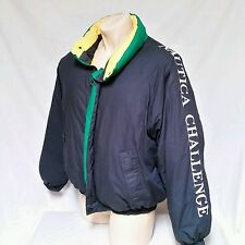 VTG 90's Nautica Bubble Goose Down Coat Jacket J Class Challenge Colorblock XL