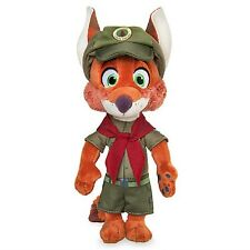 "DISNEY STORE ZOOTOPIA NICK WILDE IN JUNIOR RANGER UNIFORM MBBP PLUSH FOX 9"" H"