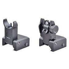 Front and Rear Sight Set Iron BUIS for .223/556 Picatinny Rail Flip up Tactical