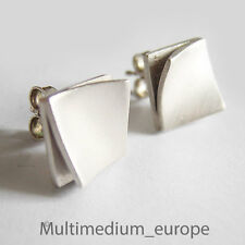 925 Silber Ohrringe mit Ohrstecker signiert sterling silver earrings signed
