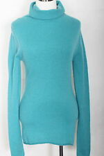 WOMEN 100% CASHMERE SWEATER OLD NAVY COOL MINT SIZE M (#1429)