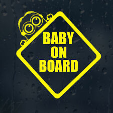 Baby On Board Minion Car Decal Vinyl Sticker For Window Bumper