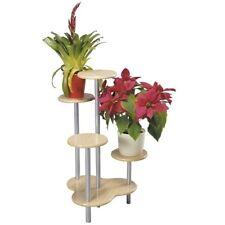 Kesper Blumenständer 17280, 75 cm, 4fach, Holz Buche, Blumensäule, Blumentreppe