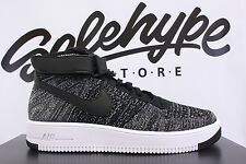 NIKE AIR FORCE 1 ULTRA FLYKNIT MID BLACK WHITE 817420 004 SZ 14