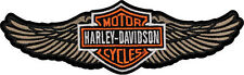 HARLEY DAVIDSON Tan Straight Wing B&S Large Patch 8 INCH HARLEY PATCH