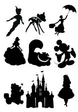 Disney Silhouette Edible Icing Decor for Cakes Free P+P
