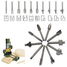 """HSS Router Bits Wood Cutter Milling Fits Dremel Rotary Tool Set 10pcs 1/8"""" 3mm"""