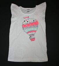 New Gymboree Hop N Roll Line Hot Air Balloon Flutter Tank Tee Size 7 year NWT