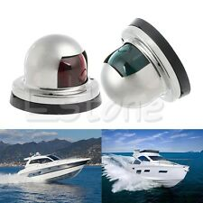 Marine Boat Yacht White Stainless Steel  12V LED Bow Navigation Light One Pair