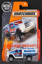 2016 Matchbox #73 Ford F-350 Superlift MATTE BLUE/ARCTIC RECON/MOC