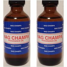 2X NAG CHAMPA ~ PREMIUM FRAGRANCE HOME BURNER ESSENTIAL OIL 60ML/2OZ BIG NEW!