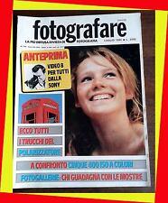 FOTOGRAFARE 7 1985 TRUCCHI DEL POLARIZZATORE  FUJICA HD-M LUPO M67 SONY 5 ISO A