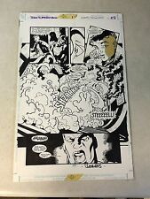 TEAM SUPERMAN #1 original comic art, STEEL, SUPERGIRL, SUPERBOY ATTACKED!!