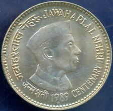 5 RUPEE BIG COIN,JAWAHARLAL NEHRU,HYDERABAD MINT,Yr:1989,UNC, RARE