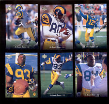1995 UD Los Angeles Rams Set JEROME BETTIS ISAAC BRUCE CHRIS MILLER TROY DRAYTON