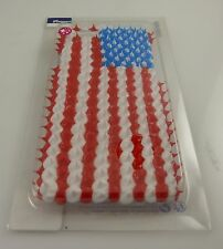 fits iPhone 6 phone case american flag 4th of July looks  cake frosting