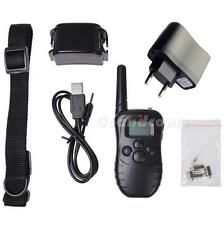 300M 100 Level Shock Vibra Remote Rechargeable LCD Pet Dog Training Collar G1CG
