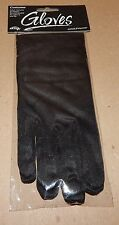 Halloween Adult Black Costume Gloves Up To Size 10 Fun World 117K