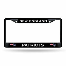 New England Patriots  Metal BLACK License Plate Frame Auto Truck Car NFL