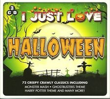 I JUST LOVE HALLOWEEN - 3 CD BOX SET - MONSTER MASH, HARRY POTTER THEME & MORE