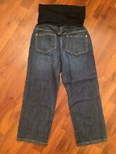 Women's Size 4 Small Liz Lange Maternity Capris Cropped Jeans Very Good