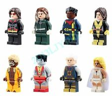 8PCS Set X-Men Minifigures Block Toy Sabretooth White Queen Rogue Colossus Cable