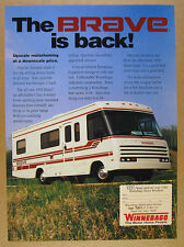 1992 Winnebago BRAVE Motorhome RV color photo vintage print Ad