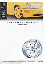 Prospekt TechArt Felgen Performance Design 1994 2 94 Porsche 911 928 944 968