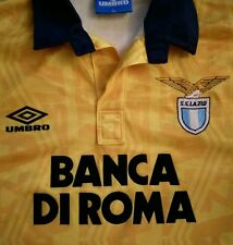 SS LAZIO AWAY SHIRT 1992/93 KIT ITALY SERIE A ROME YELLOW SIZE XL UMBRO FOOTBALL