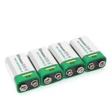 4pcs 9V Rechargeable Battery 6F22 PP3 NiMH 250mAh, more power than Energizer