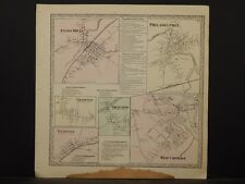 New York, Jefferson County Map 1864 Evans Mills West Carthage Philadelphia N4#28