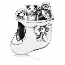 AUTHENTIC PANDORA #791038 SANTA'S STOCKING CHARM BRAND NEW SAVE$