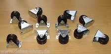 12 x Möbel-Rolle 25mm, Transportrollen, Bockrollen, Neu