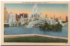 1930 Postcard Buckingham Memorial Fountain  Chicago Illinois Unposted