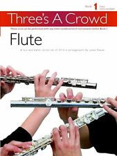 Threes A Crowd Learn to Play Group Band Easy Beginner Flute Trio Music Book 1