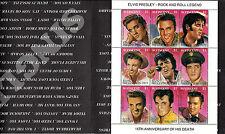 St. Vincent. Elvis Presley sheet of 9 stamps. 1992 Scott 1642. MNH