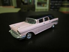 Johnny Lightning 1957 Chevy S&S Hearse BARBIE PINK 1:64 S Scale