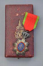Ordre Royal du Cambodge, chevalier en argent, dans son écrin